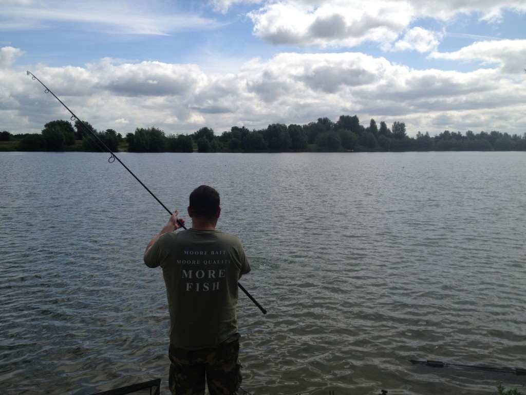 Playing a Brasenose Two Carp and one in the sling