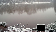Carp fishing in the snow