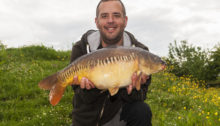 Best carp from Home Pond a 14lb 8oz Linear Carp